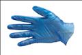Blue Vinyl Food Handling Gloves
