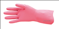 Pink Silver Lined Rubber Gloves